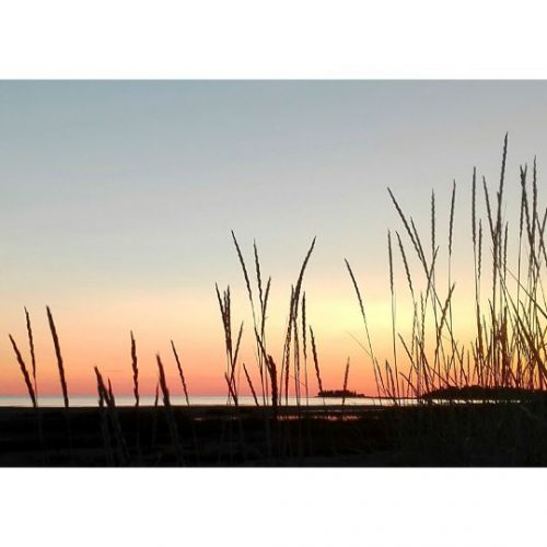 auringonlasku valokuvakortti